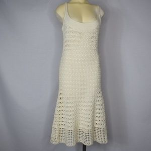 Anthropologie | Tabitha | Cream Crochet Dress XS